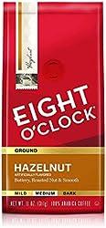 Eight O'Clock Ground Coffee, Hazelnut, 11 Ounce