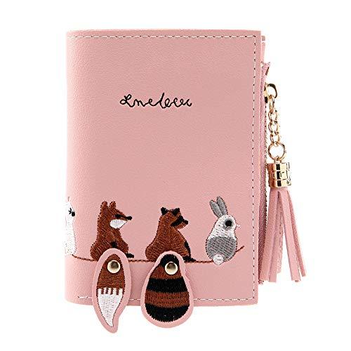 Women Fox Cat Short Wallet Tassel Coin Purse Card Holders Handbag Package PK