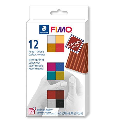 Souple et facile /à d/émouler Bo/îte de 26 pains de p/âte FIMO /à durcir au four en 11 couleurs assorties 8023 50 LX Staedtler FIMO Soft