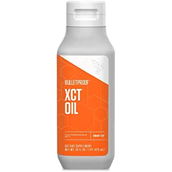 Bulletproof XCT Oil Made with C10 and C8 MCT Oil, 16 Oz, Amplifies Energy, Keto Friendly