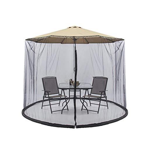 300x230cm Patio Umbrella Funda con Cremallera Mosquitera Mesa de Pantalla Tabla Umbrella Canopy Garden Deck Mobiliario para Barra Exterior