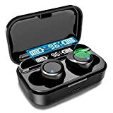 Wireless Earbuds X5 in-Ear Bluetooth 5.0 Earphones for iPhone Android with USB-C Charging Case LED Digital Shows, IPX7 Waterproof Sport Headphones, Touch Control for Gym, Home, Office, Single/Twin