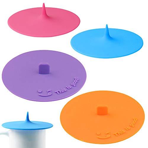Maxin - Juego de 4 tapas de silicona de grado alimenticio para...