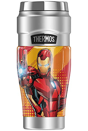 Iron Man Invincible THERMOS STAINLESS KING Stainless Steel Travel Tumbler, Vacuum insulated & Double Wall, 16oz