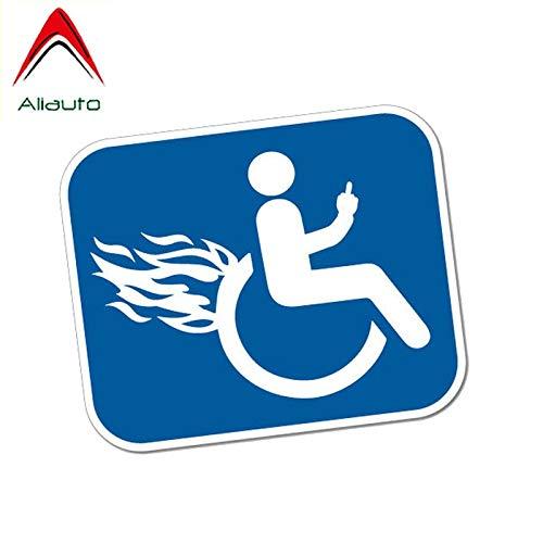 BLOUR Aliauto Funny Car Sticker Deaktivieren Sie Furious Rollstuhl Motorrad Persönlichkeit Wasserdichtes Anti-UV-Zubehör PVC-Aufkleber, 12 cm * 10 cm