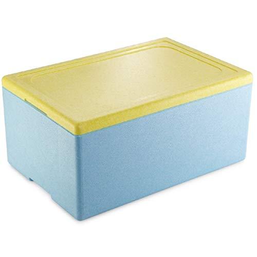 thermohauser EPS-Thermobox GN 1/1 inklusive Deckel - 39 Liter Volumen - 60,5 x 40 x 5 cm - Styropor-Transportbox