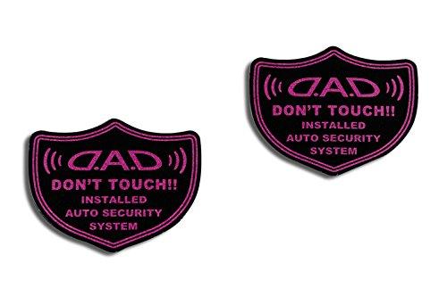 ギャルソン DAD  セキュリティーステッカー【ST076】ピンク 2P ST076-04 D.A.D