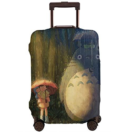 Totoro - Funda para equipaje (tela elástica, resistente al polvo, resistente al desgaste, resistente a los arañazos), White, M,