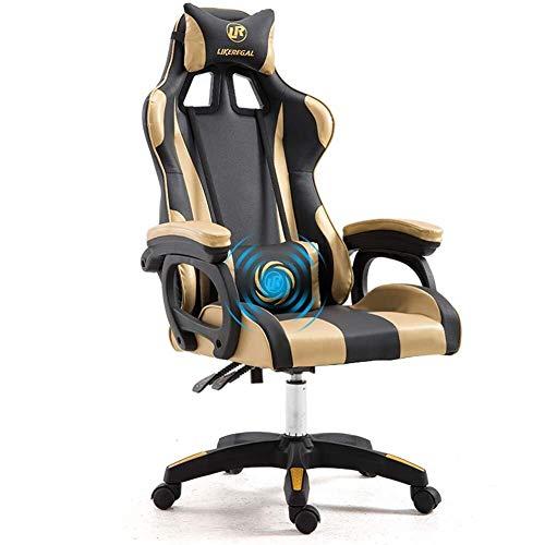 MGWA Weew - Silla para videojuegos de PC, silla de oficina, silla de escritorio, silla de videojuegos, de fibra de carbono, respaldo alto, ergonómica,...