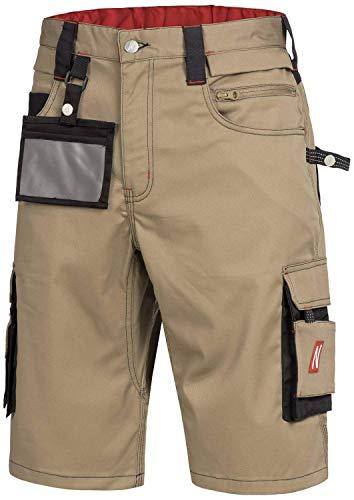 Nitras 7703 Männer-Arbeitshosen Kurz - Shorts für die Arbeit - Beige - 66