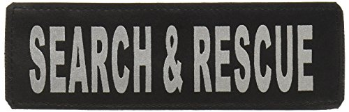 Dogline Search & Rescue Removable Velcro Patches, Large/X-Large