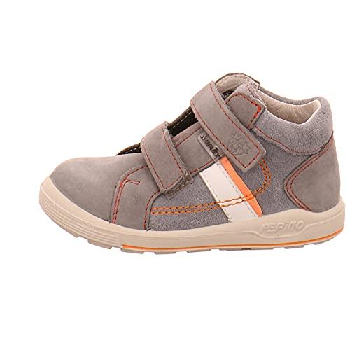 RICOSTA Jungen Lauflern Schuhe LAIF von Pepino, Weite: Mittel (WMS),wasserfest, Halbschuh mit Klettverschluss flexibel leicht,calcit,22 EU / 5.5 Child UK