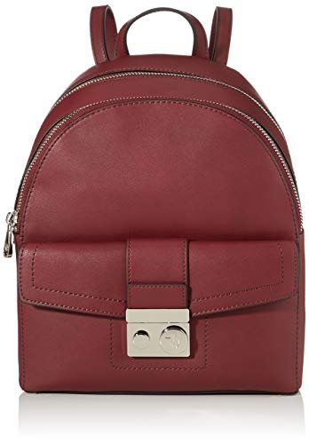 Trussardi Jeans Damen With Love City Backpack Md Eco Rucksack, Rot (Bordeaux), 11.5x32x26 centimeters