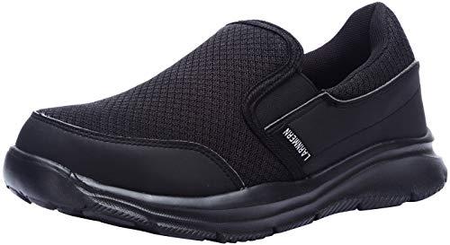 LARNMERN Zapatos de Seguridad para Mujer, Zapatos de Chef-Camarero con Punta de Acero Zapatos Transpirables Zapatos de Trabajo livianos Zapatos industriales L8059 (35 EU, Negro)
