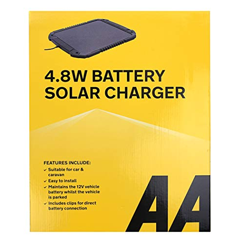 AA 12V Car Solar Battery Charger 4.8W AA1432 - For Vehicles And Caravans -...