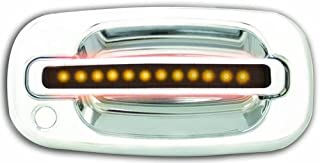 IPCW CLY99S18F Chrome with Amber LED and Smoke Lens Front Door Handle with Both Sides Key Hole - Pair