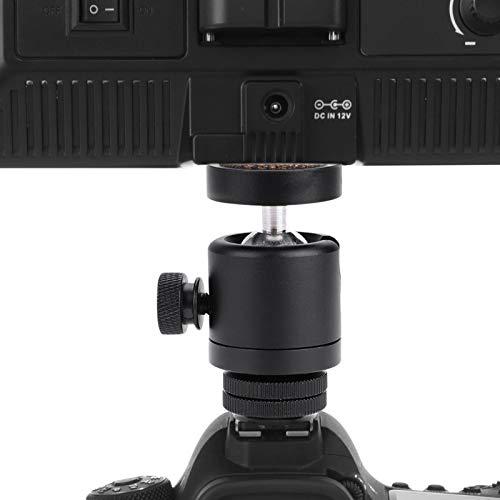 Zhjvihx Adaptador de Cabeza esférica, Cabezal esférico Giratorio de 360 ° de 1/4', Soporte para cámara Mini Herramienta de cámara para Linterna