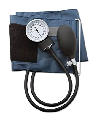 ADC - 785X Prosphyg 785 Pocket Aneroid Sphygmomanometer with Self-Adjusting Large Adult Navy Blood Pressure Cuff and Carrying Case