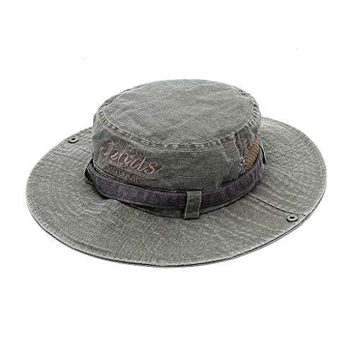 wopiaol Spring and summer outdoor mountaineering hats do old sunscreen sunshade breathable fisherman hat leisure stitching fishing hat