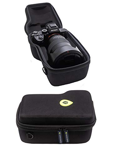 GoScope Alpha PRO CASE - Compact Hard case Compatible with Sony A7S II, A7R II, A7 III, A7R III, A7R IV, a7S III, A9, A9II -Fits Camera Body w/Lens Sizes 10mm to 105mm - FITS Camera & Lens