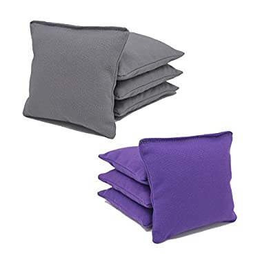 All-weather Cornhole Bags (Set of 8) (Purple and Gray)