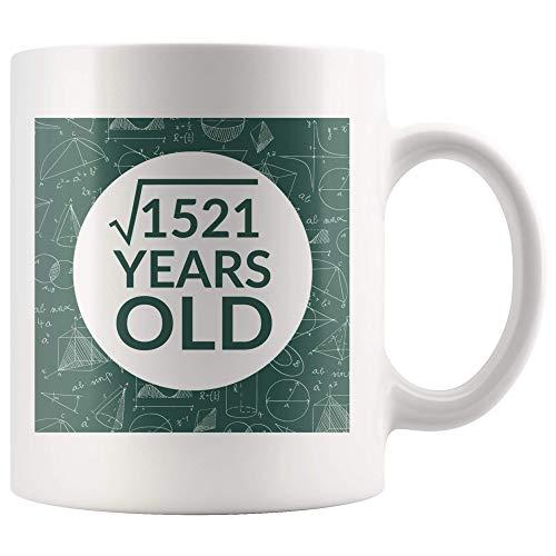 Taza Del Día De Pi Raíz Cuadrada De 1521 39 Años Cumpleaños Mujeres Hombres Regalos Ideas Taza De Café Para Profesores De Matemáticas Taza De Cerámica Blanca De 11 Onzas