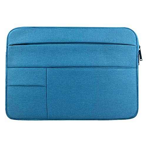 Universal Multiple Pockets Wearable Oxford Cloth Soft Portable Leisurely Laptop Tablet Bag, For 13.3 inch and Below durable (Color : Blue)