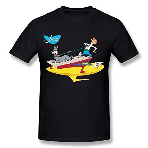 Kazzar Men's The Jetsons Astro Treadmill Dog Walk T Shirt L