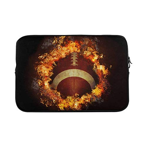 INTERESTPRINT 11 Inch 11.6 Inch Laptop Carrying Case Cover Fire Football Notebook Computer Sleeve Bag