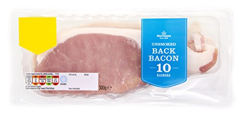 Morrisons Unsmoked Rindless Back Bacon, 300g