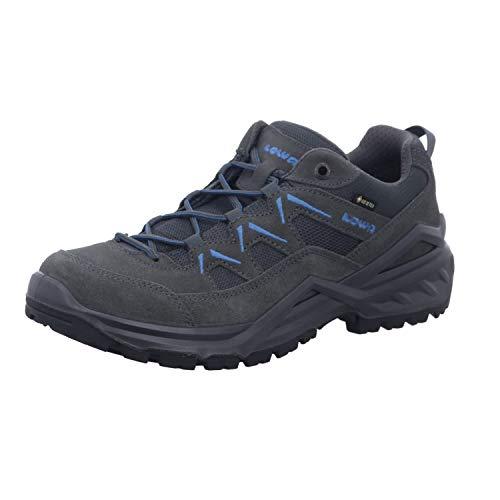 Lowa M Sirkos Evo GTX LO Grau, Herren Gore-Tex Hiking- und Approachschuh, Größe EU 43.5 - Farbe Graphit - Blau