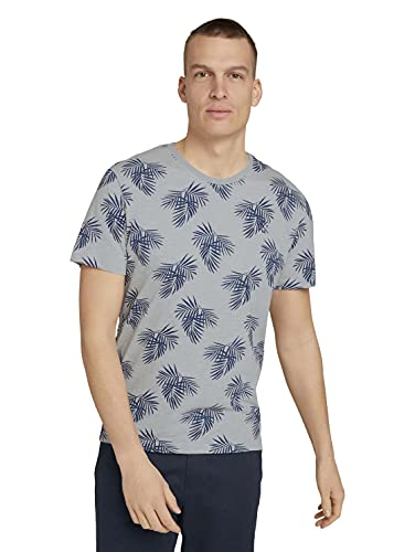 TOM TAILOR Herren 1025988 Print T-Shirt, 11098-Yarn Dye Stripe White, XXL