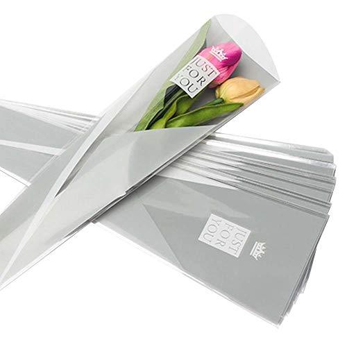 100 pcs unique rose sacs d'emballage bouquet de fleurs sacs d'emballage #02
