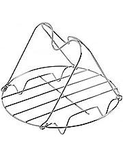 Casecover Ett set ångställ med handtag utmärkt för att lyfta ut och runt tryckkokare rostfritt stål kastrull panna matlagningsstativ tillbehör för ångning