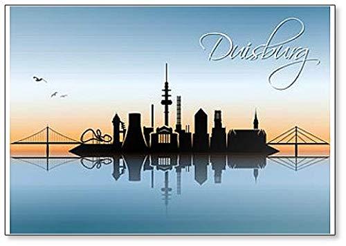 Kühlschrankmagnet Skyline von Duisburg, Deutschland