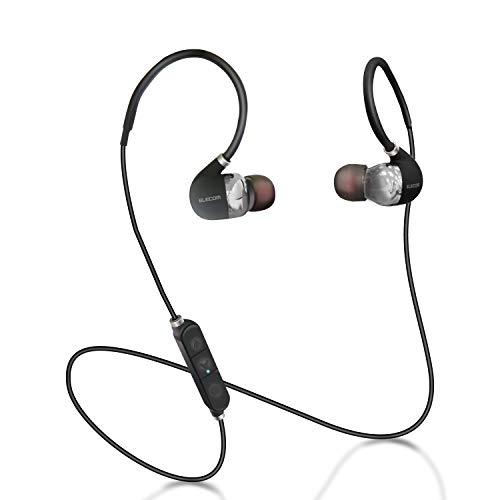 エレコム Bluetooth ブルートゥース イヤホン ワイヤレス aptX対応 高音質 通話対応 シュア掛け PureSound 1年間保証 ブラック LBT-HPC50ECBK