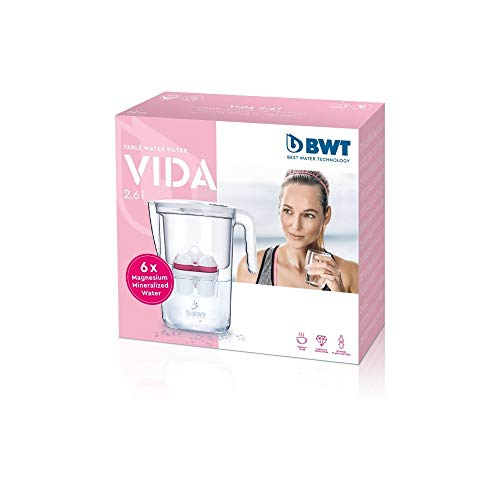 BWT VIDA - Filtro de agua de mesa (2,6 L, con 6 cartuchos, paquete para semestre