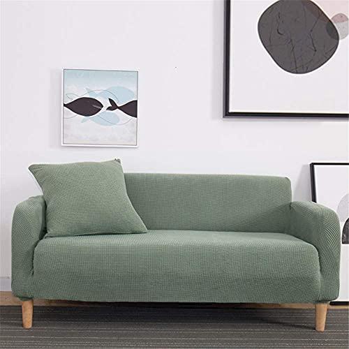 TCWDX Funda de sofá elástica de Color sólido Spandex Moderno poliéster Esquina sofá sofá Funda Protectora para Silla Sala de Estar 1/2/3/4 plazas
