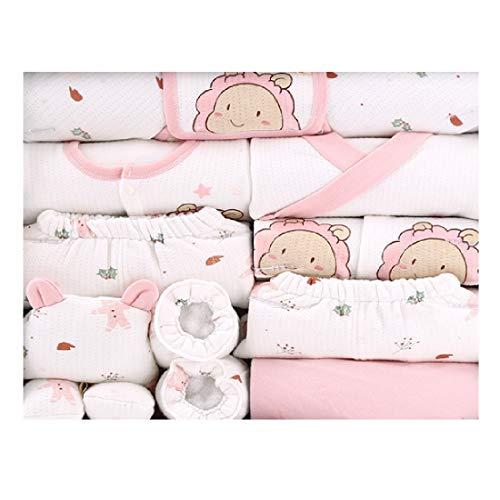 18 piezas de ropa para recién nacidos de 0 a 6 meses - rosa - 0-6 meses