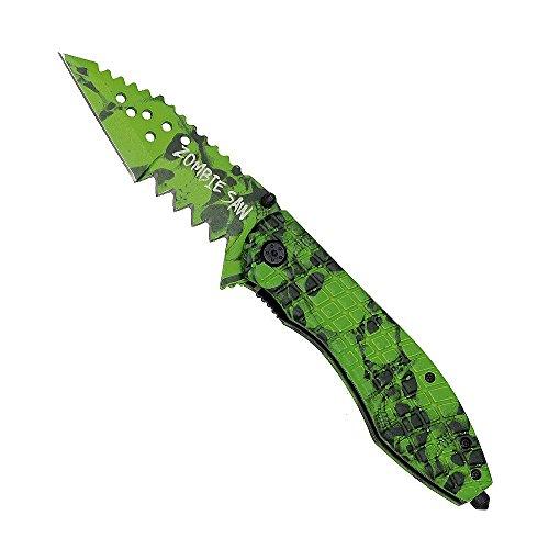 Haller 83984 Zombie Dead Taschenmesser Saw Messer, Grün