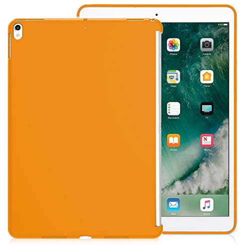 KHOMO Case iPad Air 3 10.5 (2019) / iPad Pro 10.5 (2017) Back Cover Ultra Slim and Light Compatible with Smart Cover – Orange