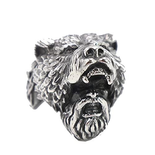 Anillos de acero inoxidable para hombre, amuleto de estilo chino God Beast Kirin, Punk Rock para novio masculino11