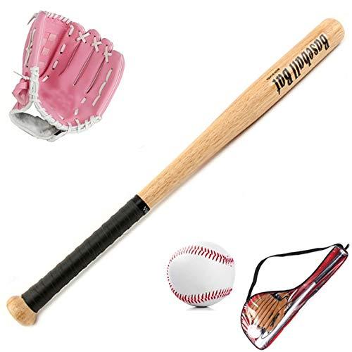 FHCSAO Baseball Handschuh,Kids Teens Jungen Mädchen Sport Baseball Starters Set,25 Zoll Baseballschläger + 10.5Zoll Baseballhandschuh + Standard Nr. 9 Baseball,Pink-10.5inches