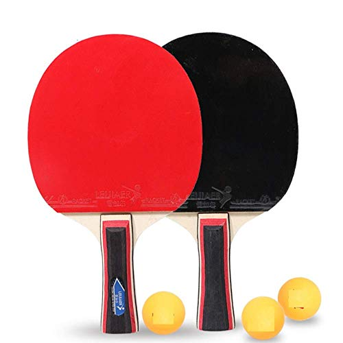 ACAO Ping Pong Paddle, Ping Pong Paddles with Carry. Case Best Professional Table Tennis Racket Set