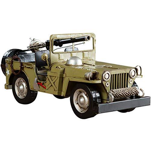 Moter Escultura Hierro Forjado Willis Jeep Modelo Hecho a Mano Colección de Arte, Utilizado para la decoración del hogar Amantes del Coche