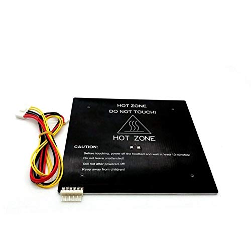 XBaofu 1pc 3D Impresora Accessorires for MK3 24V220W Calor Bed180mm * 180 mm * 3 mm de Aluminio calentado Cama for Heatbed Impresora DIY 3D con Cable (Color : 24V220W, tamaño : 180mm180mm)
