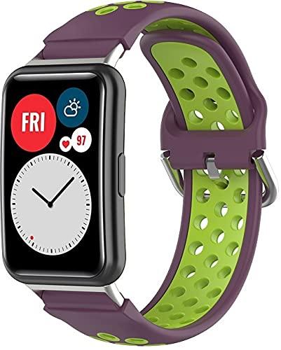 Gransho Correa de Reloj Recambios Correa Relojes Caucho Compatible con Huawei Watch Fit/Huawei Fit - Silicona Correa Reloj con Hebilla (Pattern 3)