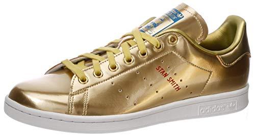 adidas Stan Smith, Zapatillas de Gimnasio Hombre, Gold Metallic/Gold Metallic/Crystal White, 37 1/3 EU