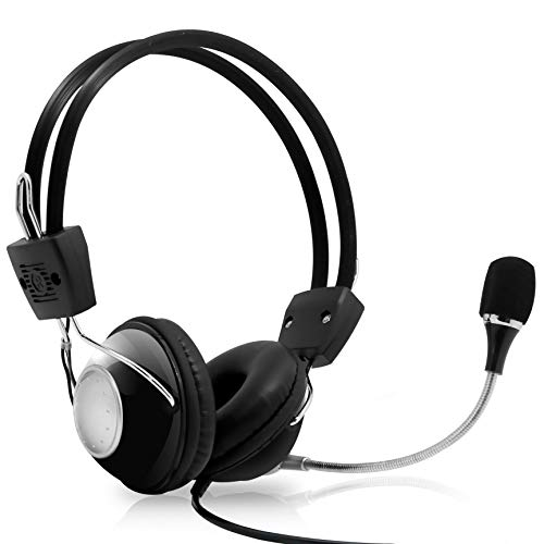 Fones de ouvido com suporte de ruído estéreo para jogos de computador de 3,5 mm profissional G4000 da Limusic Blue com controle de volume e microfone HiFi Driver para laptop