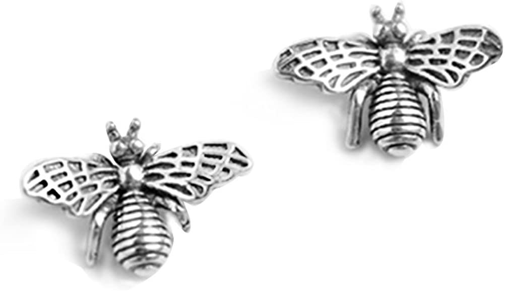 FarryDream 925 Sterling New mail order Spring new work Silver Cute Bumble Bee Earrings fo Studs